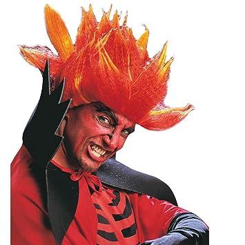 Peluca punk pelo de demonio diablo postizo halloween rocker satanás accesorios traje