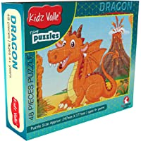 Kidz Valle Dragon 48 Pieces Tiling Puzzles (Jigsaw Puzzles, Puzzles for Kids, Floor Puzzles) Puzzles for Kids Age 4 Years and Above