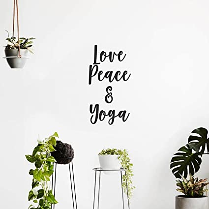 Amazon love peace and yoga inspirational quotes wall decal