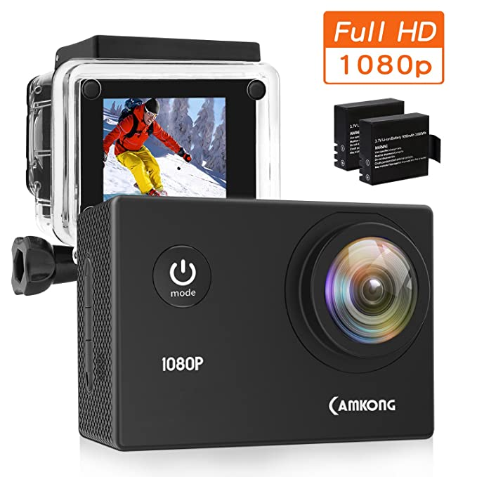 150 opinioni per CAMKONG Action Cam Impermeabile Action