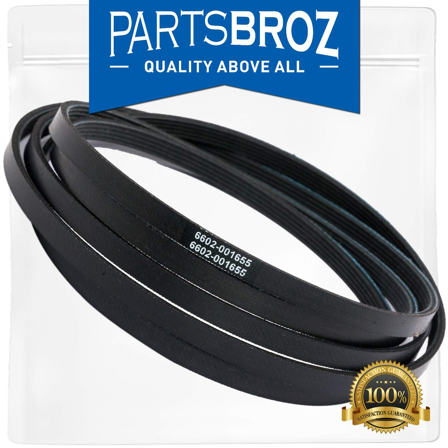 6602-001655 Dryer Drum Belt Replacement for Samsung Dryer by PartsBroz - Replaces Part Numbers AP4373659, 1935594, 6602-001314, PS4133825