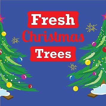 Amazon.com: Pancarta de árbol de Navidad de corte fresco ...
