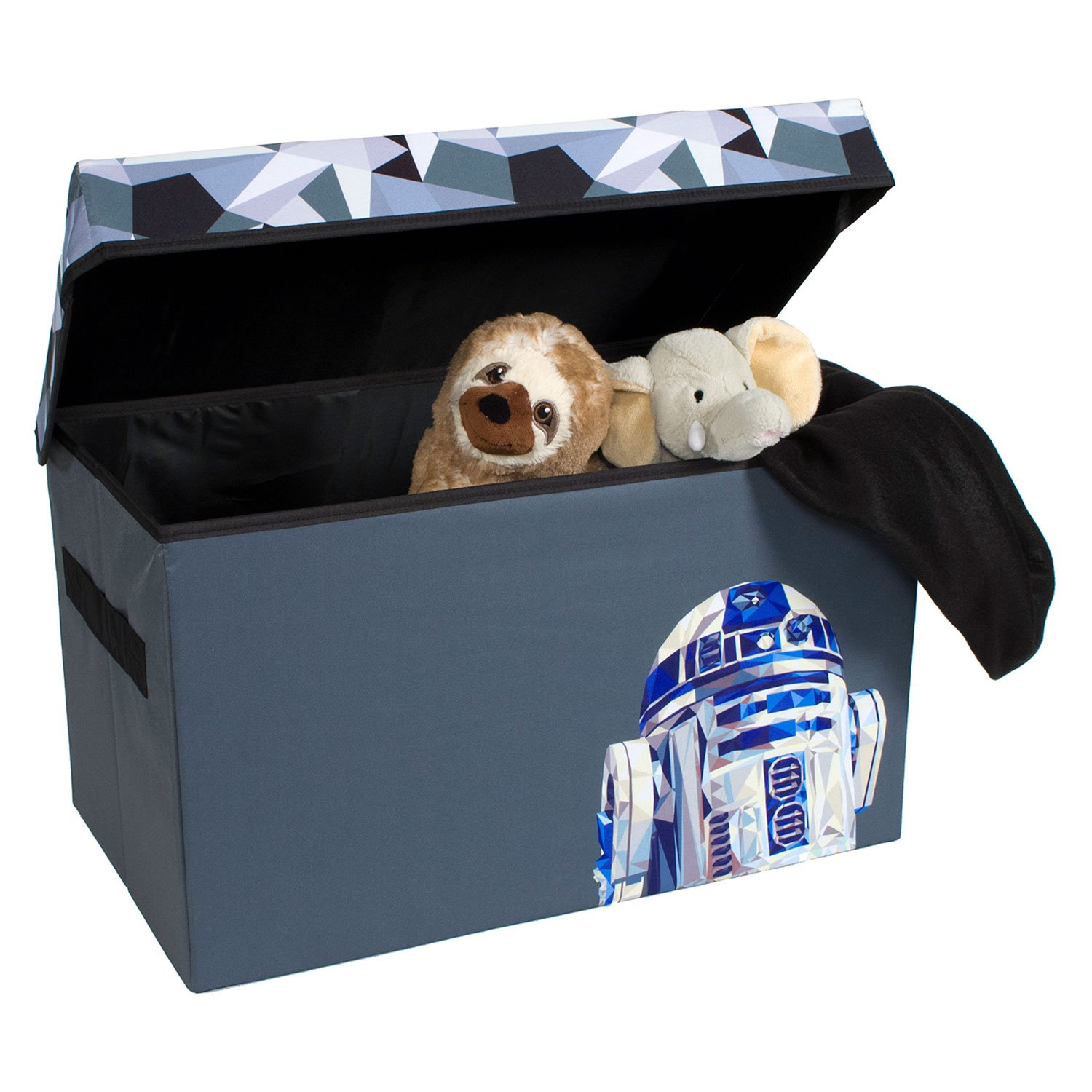 R2-D2 Collapsible Kids Toy Storage Chest by Disney Star Wars - Flip-Top Toy Organizer Bin for Closets, Kids Bedroom, Boys & Girls Toys - Foldable Toy Basket Organizer with Strong Handles & Design