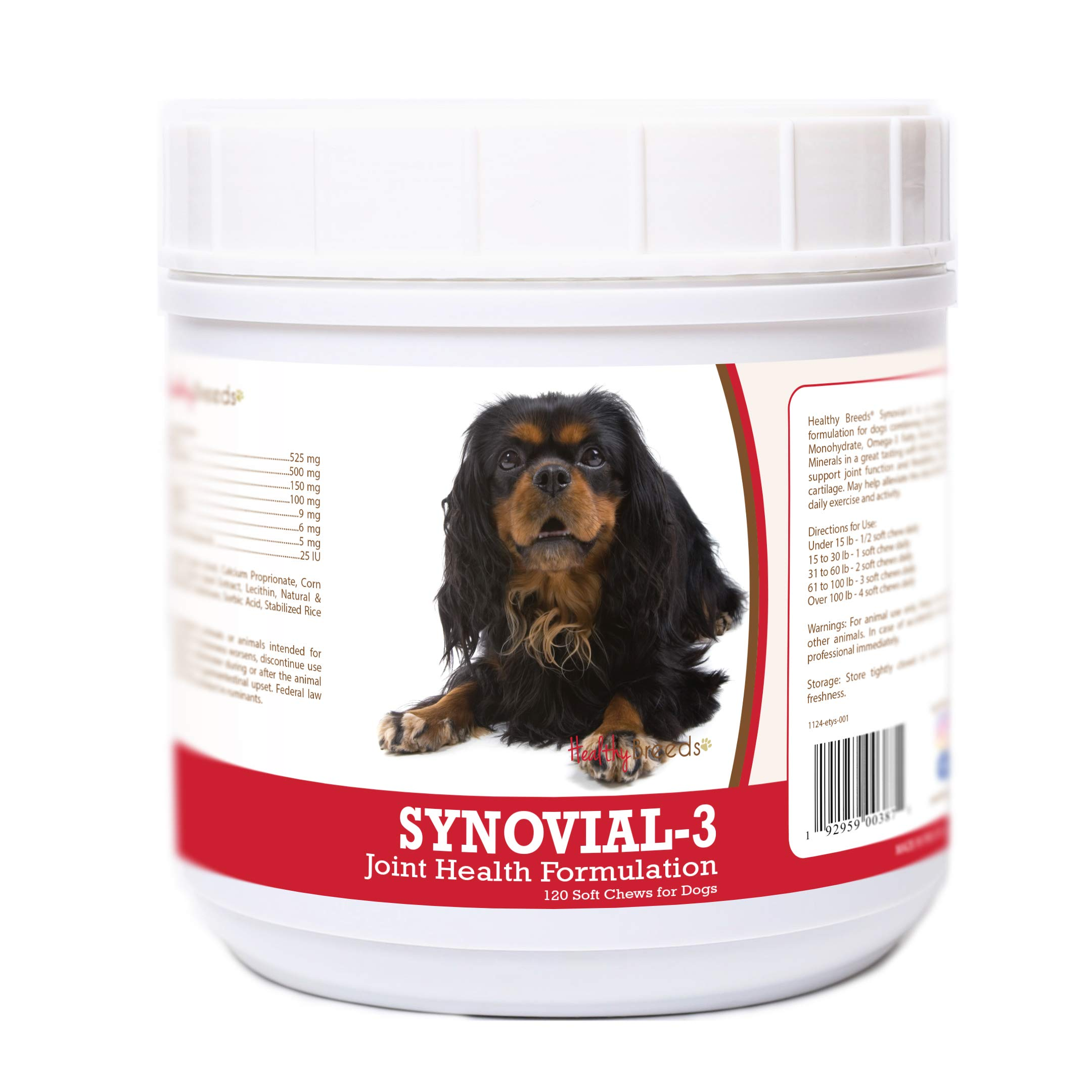 Healthy Breeds English Toy Spaniel 120 Synovial-3 Joint Support