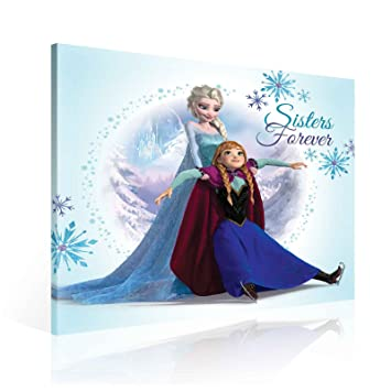 Imágenes Elsa Anna Warehouse Frozen Lienzo Wallsticker Disney w80OyvNmn