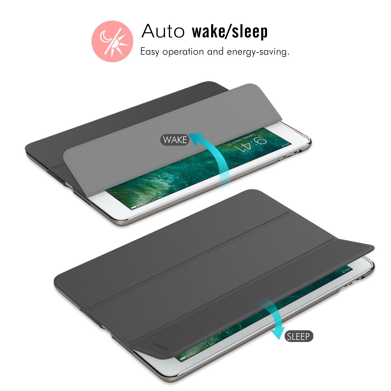 Ultra Slim Funci/ón de Soporte Protectora Plegable Smart Cover Auto Sue/ño//Estela Menta Verde MoKo Funda para Nuevo iPad 9.7 Pulgada 2017