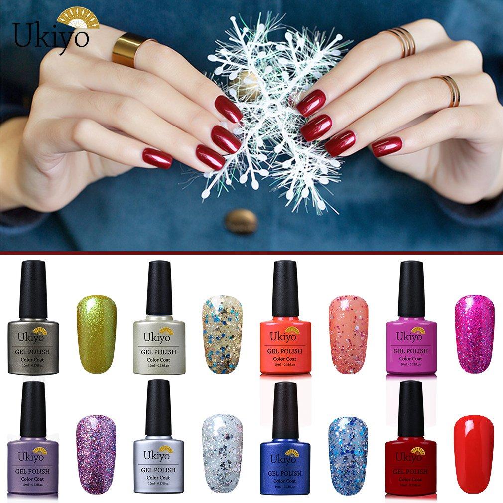 Ukiyo - Gel de esmalte para uñas UV LED de colores, serie High Gloss, 6 unidades 6PCS-3 ...: Amazon.es: Belleza