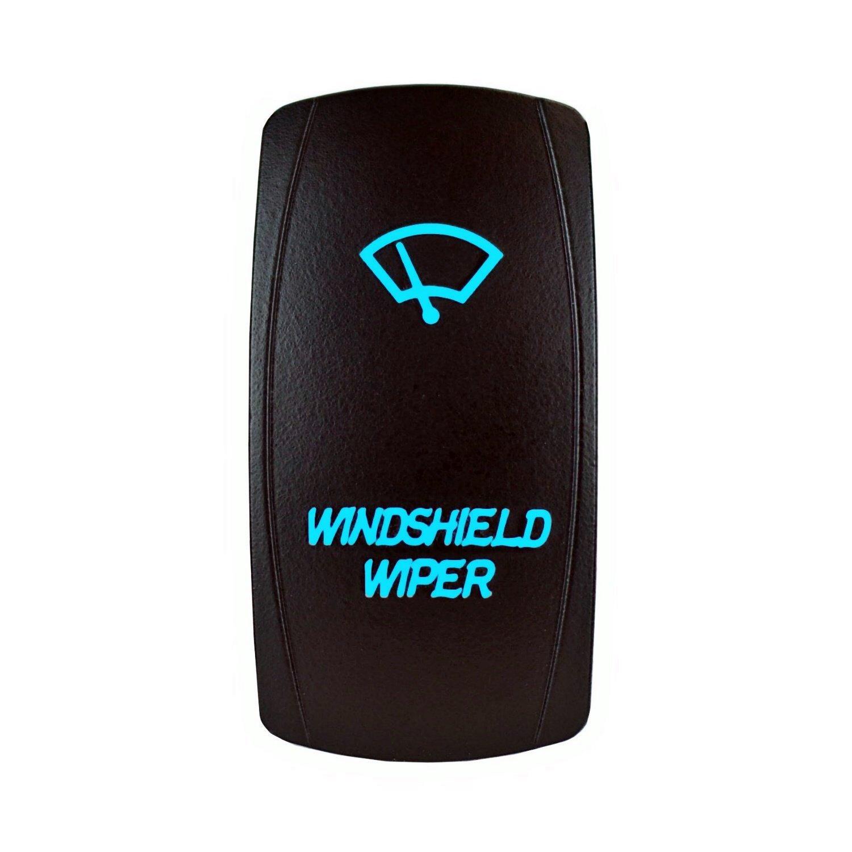 12V Laser Backlit Blue Rocker Switch WINDSHIELD WIPER Bright Light Powersports [SLR1350BLPFBA]