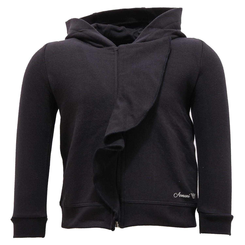 bleu 12 Months 3476V Felpa Bimba Arhommei   Full Zip bleu Cotton Sweatshirt Enfant