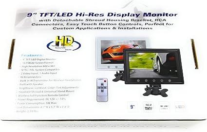 Monitor 9 pollici per telecamera retromarcia e telecamere di videosorveglianza