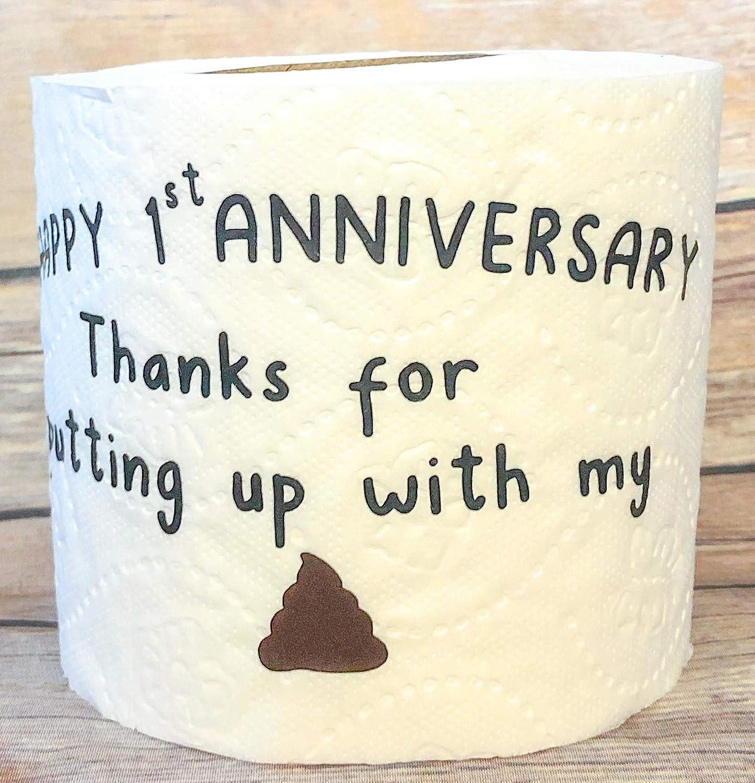 Amazon Com First Anniversary Gift Gag Gift Funny Toilet Paper 1st Anniversary Paper Handmade