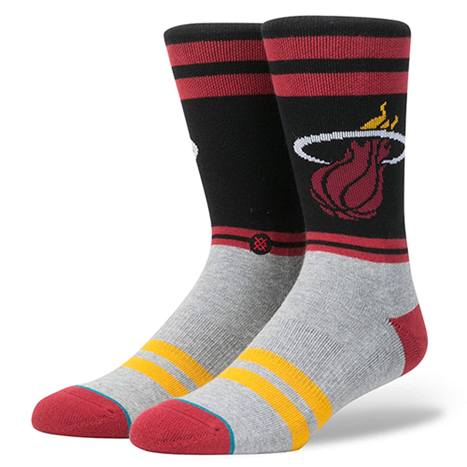 Stance NBA Miami Heat City Gym Chaussettes Homme Bordeaux