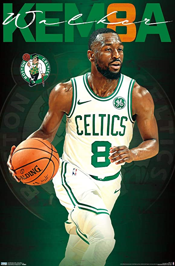 Amazon Com Trends International Nba Boston Celtics Kemba Walker 22 375 X 34 Unframed Version Home Kitchen