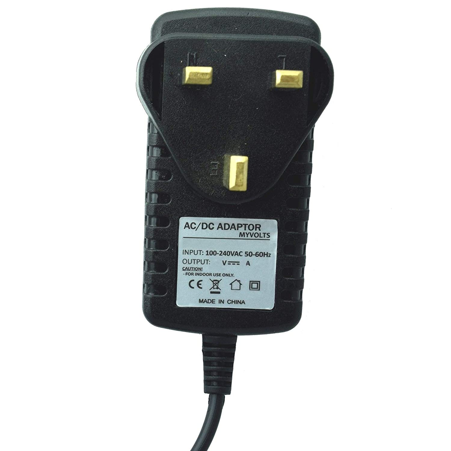 UK 5V plug MyVolts power adaptor compatible with Hitachi Digital camera HDC-1051E
