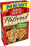 Town House Flatbread Crisps Crackers, Italian Herb, 9.5-Ounce Boxes (Pack of 4)