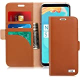 FYY [Genuine Leather] Wallet Case for Samsung Galaxy S8+ Plus 2017, Handmade Flip Folio Wallet Case with Kickstand Card Slots