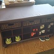 Amazon.com: Chelmsford banca para zapatos para el recibidor ...