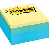 Post-it Notes Cube, 3 in x 3 in, Emerald Wave, 400 Sheets/Cube (2053-SP)