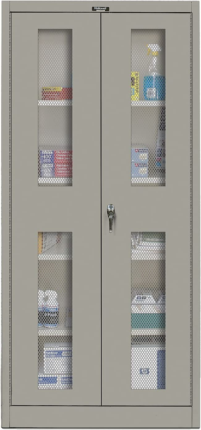 Amazon Com 400 Series 2 Door Storage Cabinet Color Hallowell Gray Office Furniture Office Products