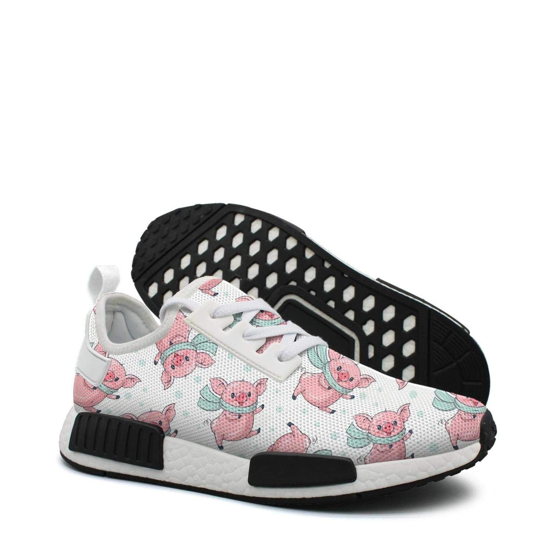 Pduiqo Cute Cartoon Pigs Womens Casual Lightweight Sneaker Gym Outdoor Basketball Shoes
