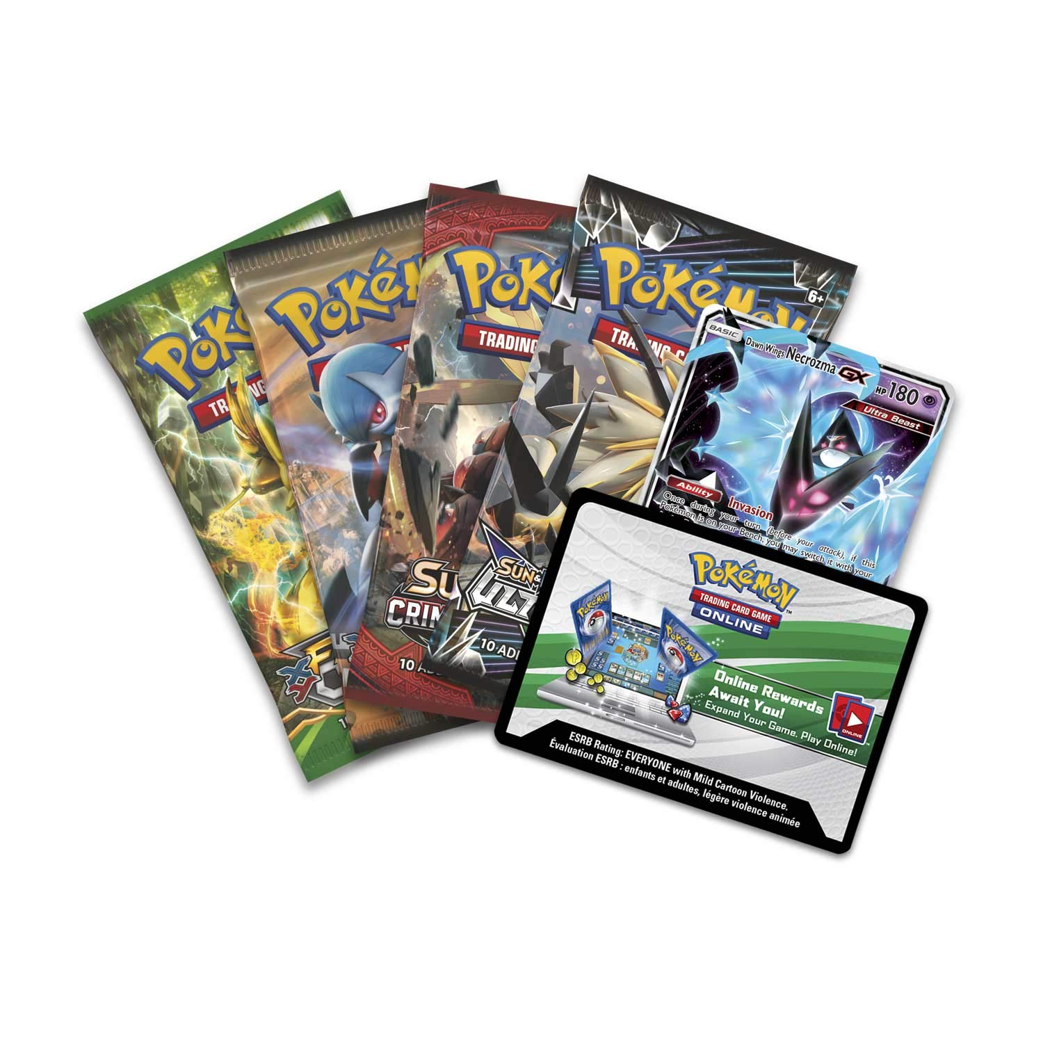 Pokemon TCG: 2018 Spring Dawn Wings NECROZMA Purple TIN- Dawn Wings - 4 Booster Packs with 1 GX Card of Dawn Wings Necrozma-GX by Pokemon (Image #2)