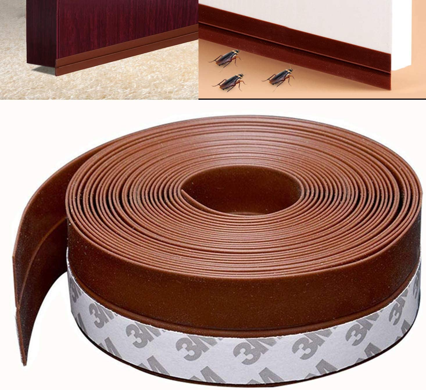 35mm*5m Home Door Seal Strip Weather Stripping Silicone Window Sealing Strip SC