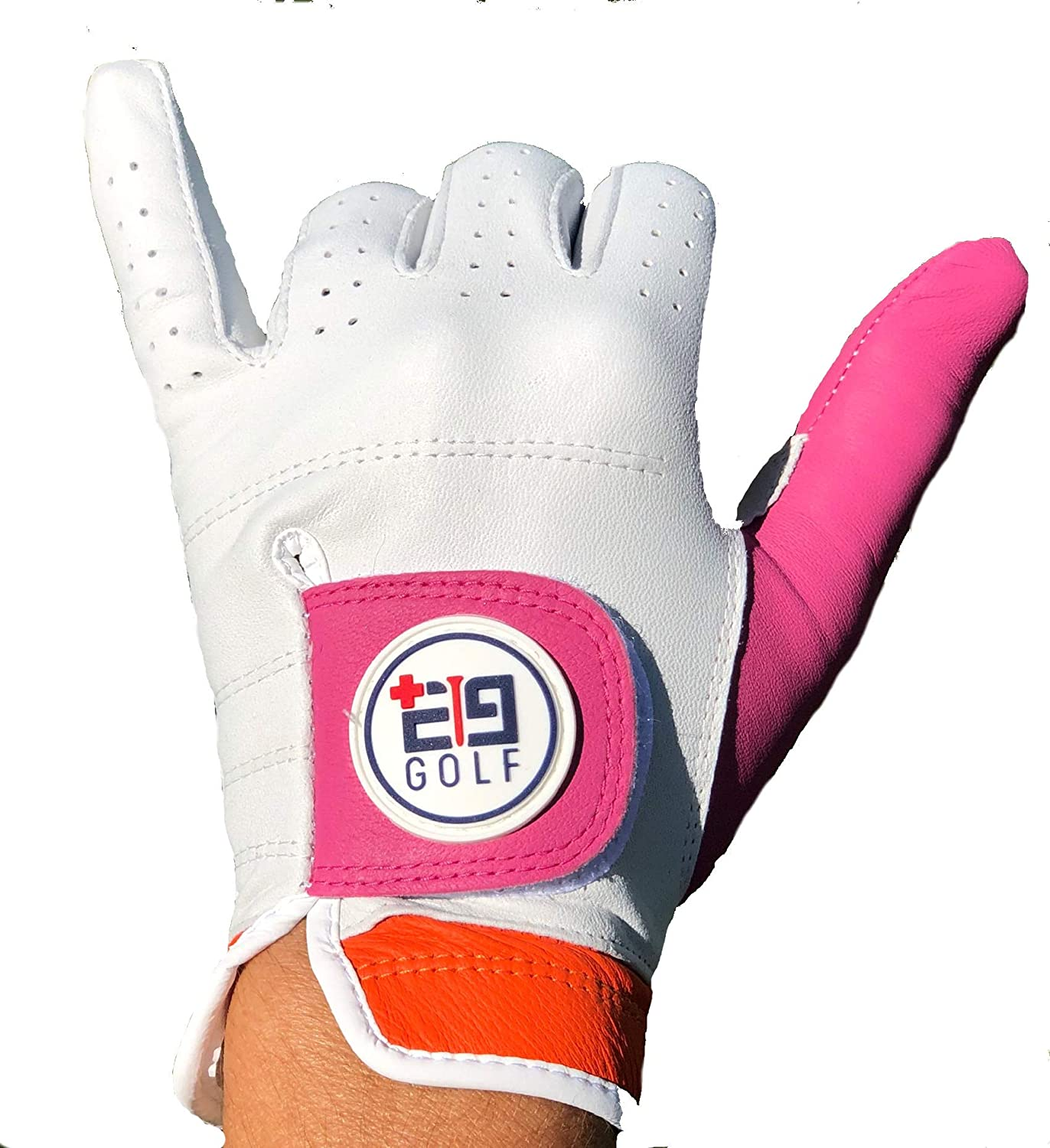 E9golf Tour Performance Leather Golf Glove– Premium Gloves for Women - Ultra Soft Leather – Perfect Design for A More Stylish Game – Breathable and Comfortable