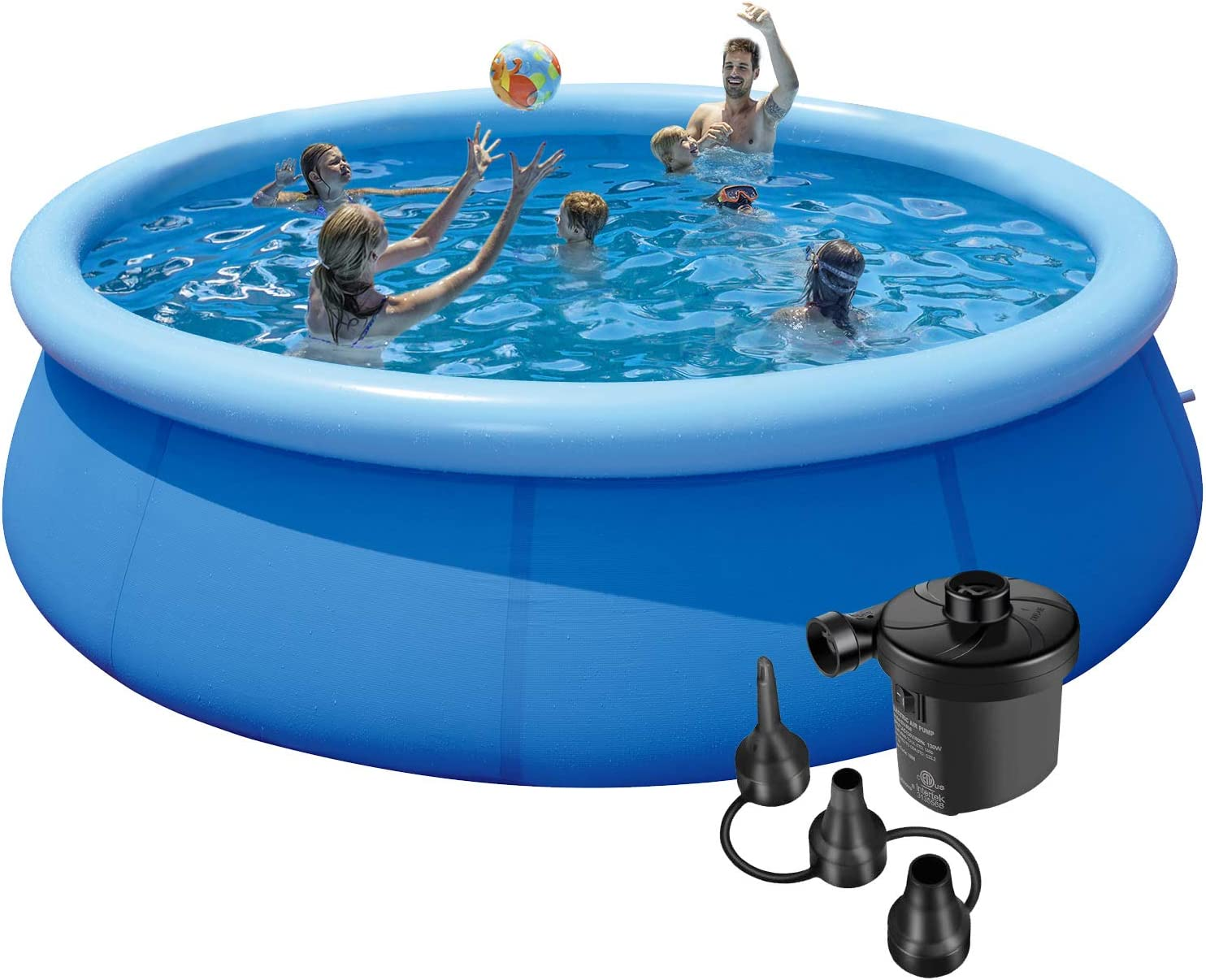 10ft Swimming Pools Above Ground Inflatable Pool With Air Pump In Funny Summer Quick Set Blow Up Swimming Pool For Family Outdoor Yard Garden Use Garden Outdoor