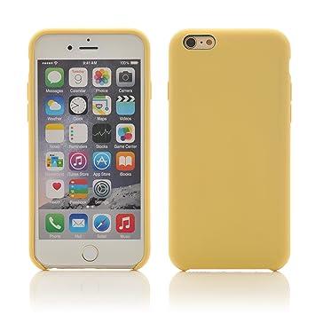 iprotect Funda protectora en silicona para Apple iPhone 6, 6 s (4,7) caso de goma suave, amarillo