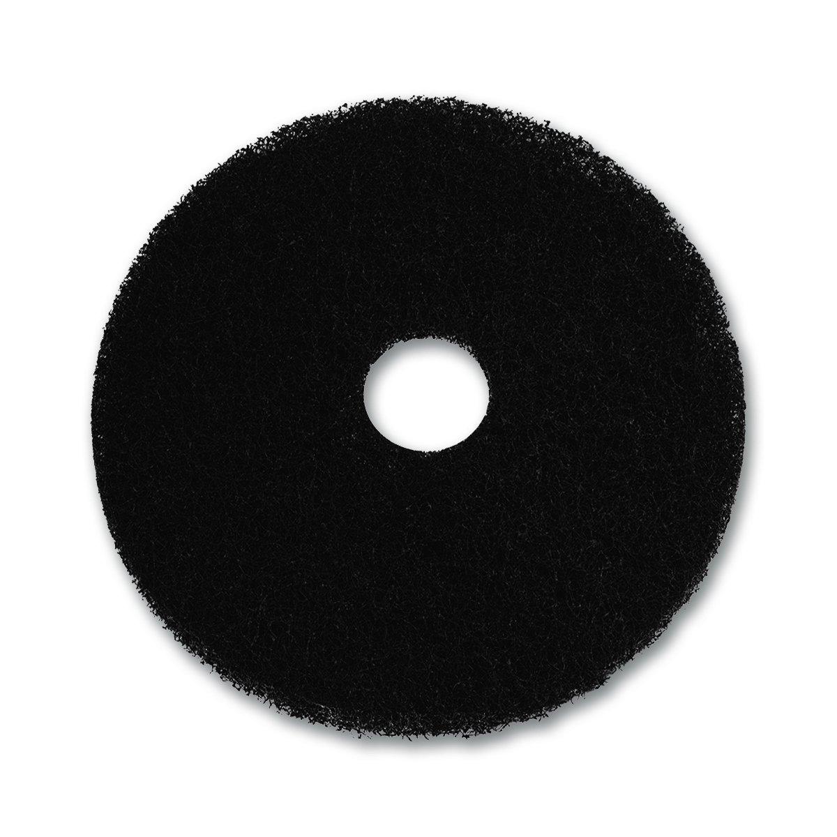 UltraSource Floor Stripping Pad, 17'', Black (Pack of 5)
