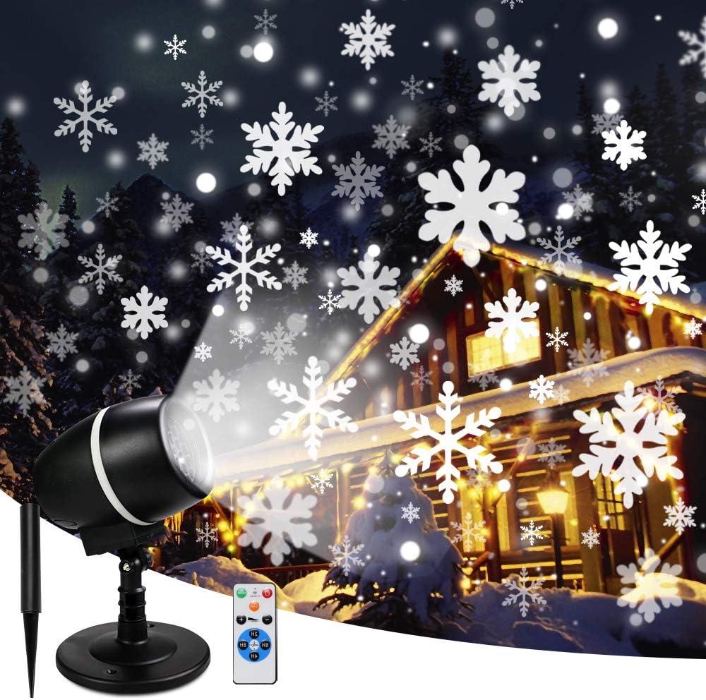 Amazon.com: Proyector de copos de nieve con luces LED de ...