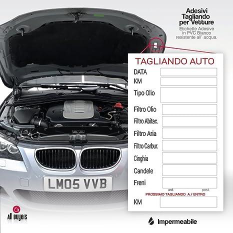 Pegatinas DE PVC revisión ITV coche para coche aceite freno velas aire correas