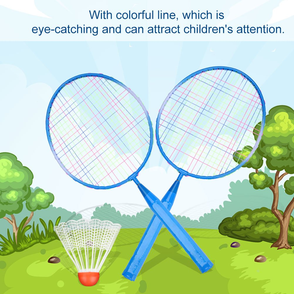 Nylonlegierung Trainingspraxis Kinder Federball Schl/äger Kinder Badminton Zubeh/ör VGEBY1 Kinder Badmintonschl/äger