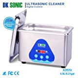 Digital Ultrasonic Jewelry Cleaner - DK SONIC 800ml 42KHz Sonic Eyeglass Cleaner with Digital Timer Basket for Parts Denture Gun Blades Ring Injector Glasses Circuit Board Retainer