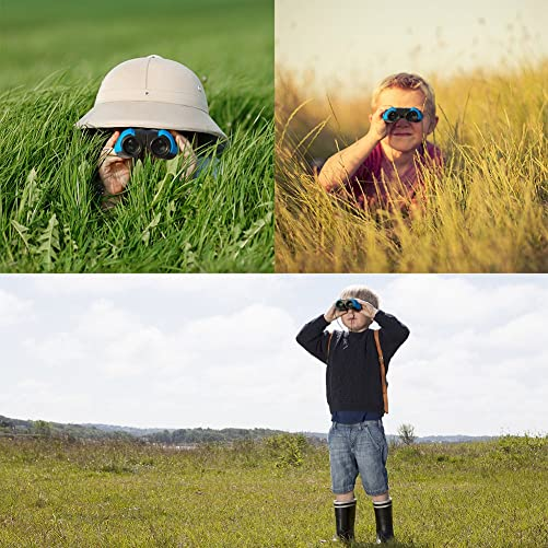 DINDINCAM Binoculars for Kids 8×22 Outdoor Folding Binoculars Wild and Clear View Spotting Telescope, for Bird Binoculars Watching, Wildlife Watching or Scenery, Game Watching