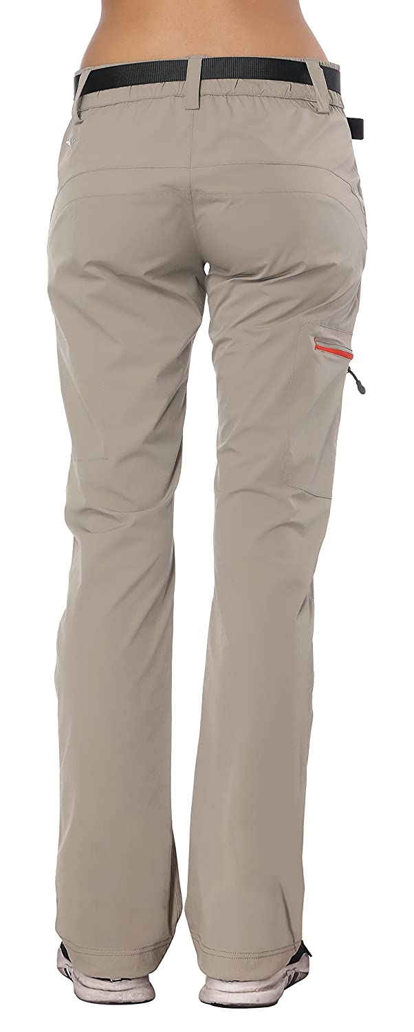 Quick Dry MIER Womens Outdoor Cargo Pants Lightweight Stretchy Hiking Pants with Large Zipper Pockets