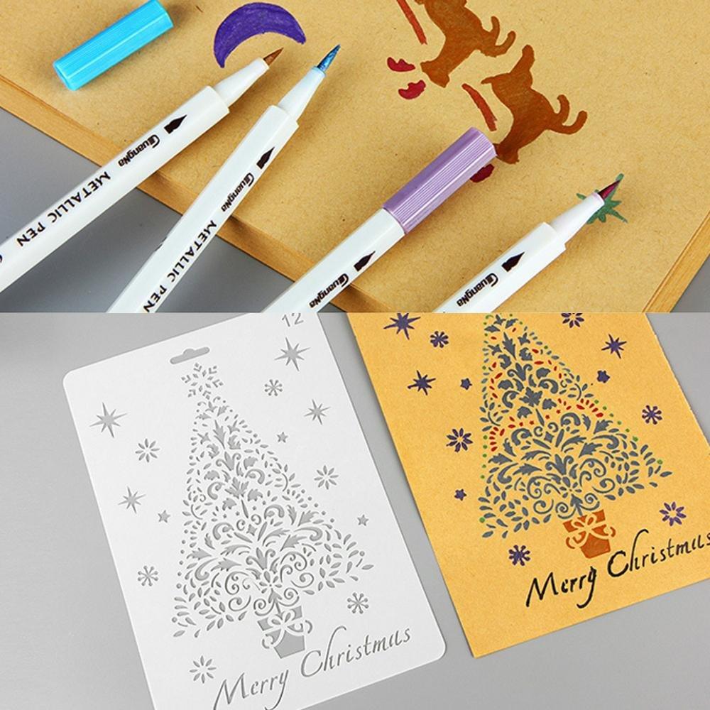 lumisun dibujo plantillas escala plantilla para pintura de paredes de madera muebles manualidades Scrapbooking Juego de plantilla para DIY decorativo de Navidad