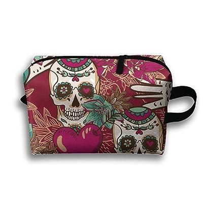 Flower Skull Heart Leaf Hand Multifunction Portable Pouch Waterproof Travel Bag