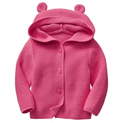BabyGap Baby Gap Factory Pink Bear Hoody Cardigan Sweater 3-6 Months