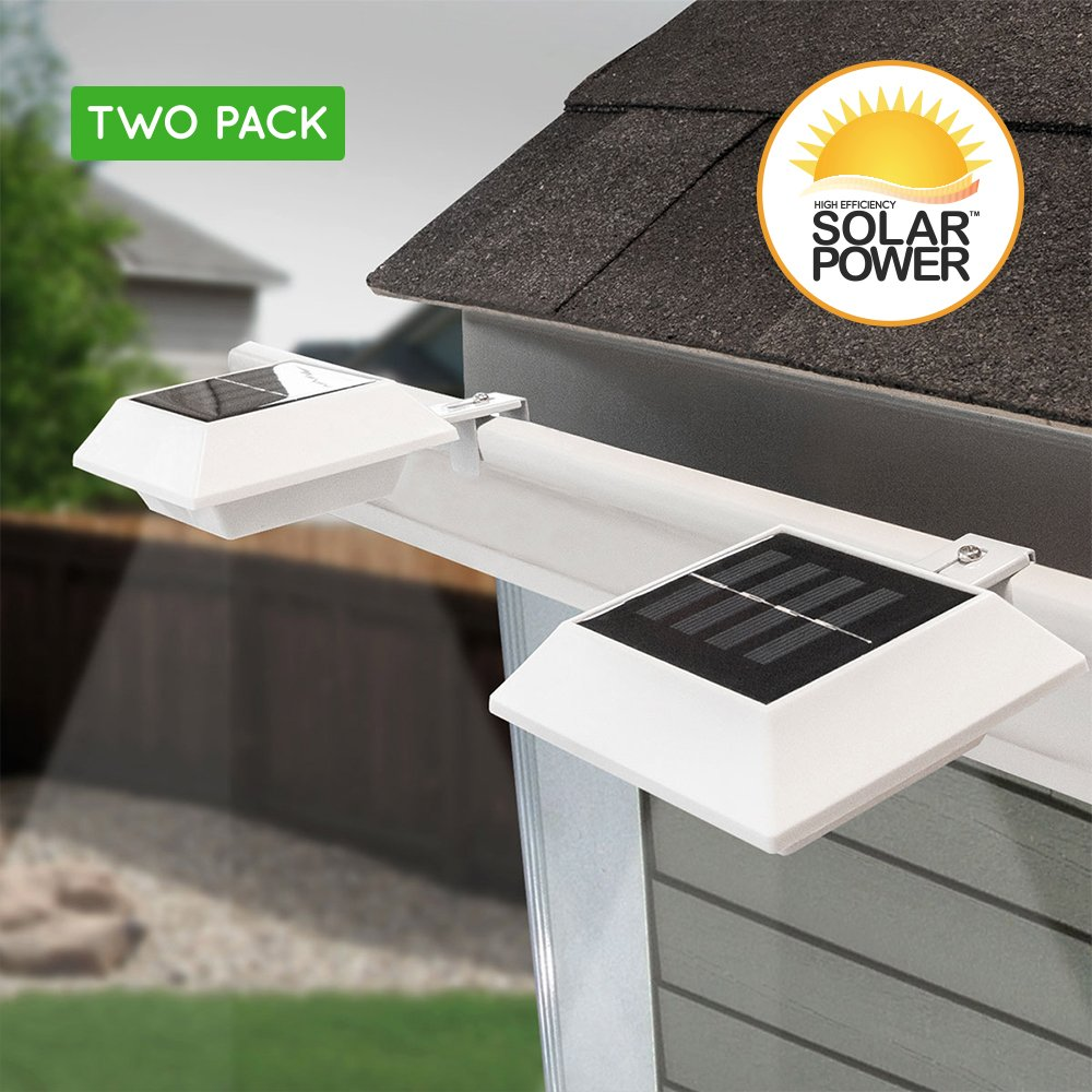 Touch Of ECO Lunalite Solar Outdoor Lights, White (Pack of 2) by Touch Of ECO