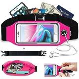 【smartlle】ランニングポーチ ウエストバッグ ランニング ベルトスポーツ用 ランナーウエストポーチ ケース付き(OtterBox Commuterシリーズ & LifeProofシリーズなど) apple iPhone X, 8, 7, 6 Plus, SE, Samsung S8+に対応しています。超軽量 通気性 防水 チェスト ポーチは男女兼用