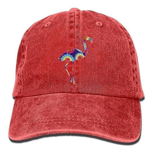 b243aa3d2a Amazon.com: Cute Tie Dye Flamingo Flamingo Vintage Washed Dyed ...
