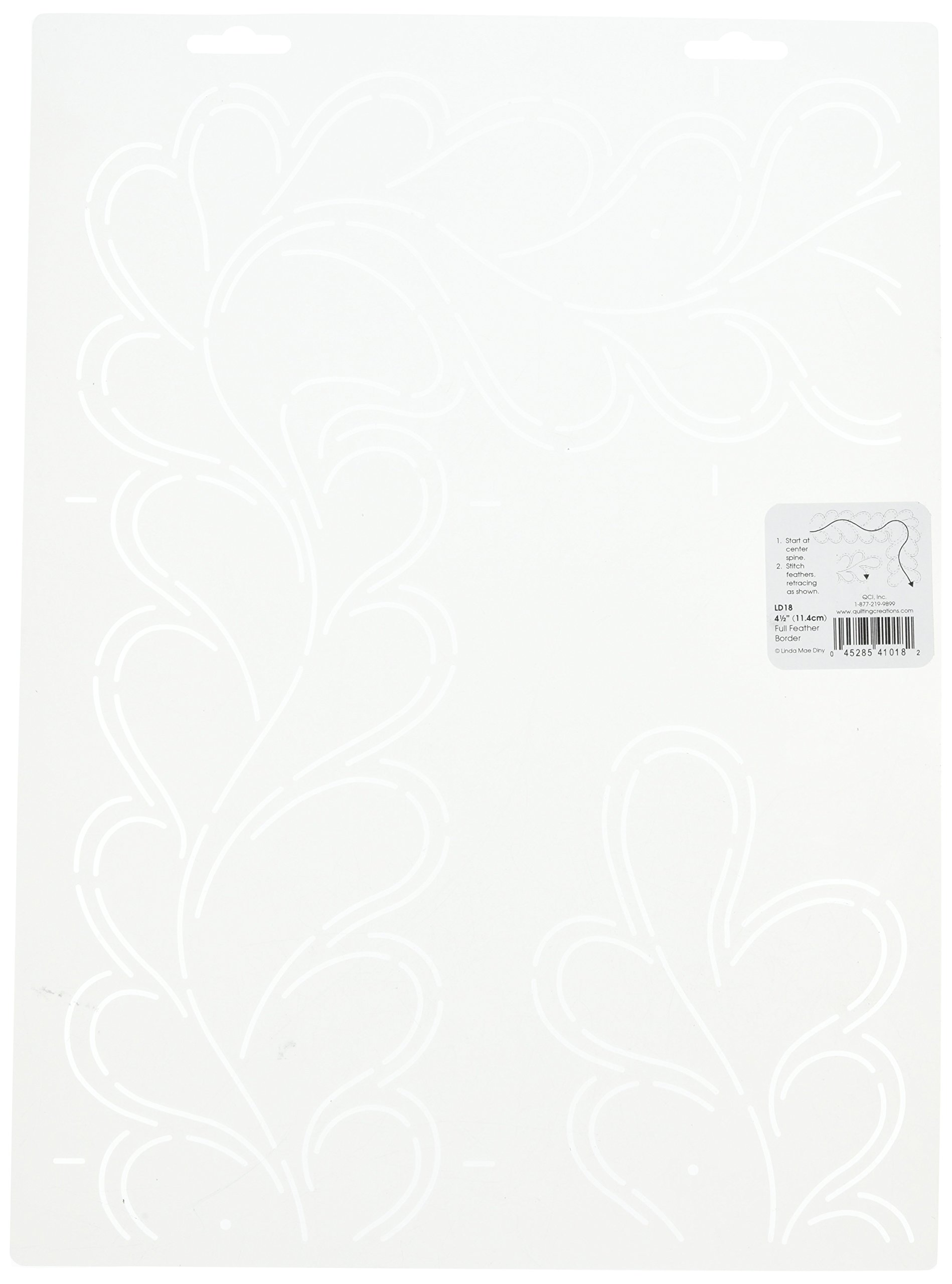 Quilting Creations Full Feather Border Quilt Stencil by Quilting Creations
