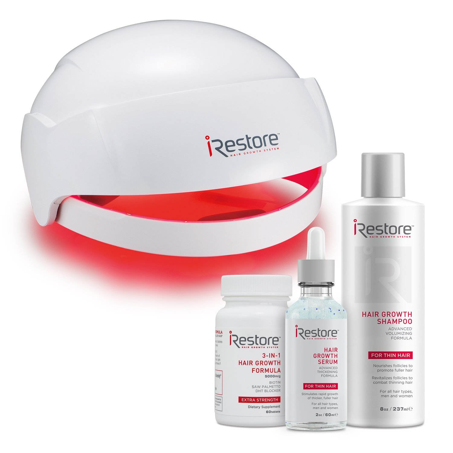 iRestore MAX Hair Growth Kit– FDA-Cleared Laser Hair Loss Treatment for Men and Women with Thinning Hair - Laser Cap Uses Regrowth Light Therapy Similar to Combs, Brushes to Grow Thicker, Fuller Hair