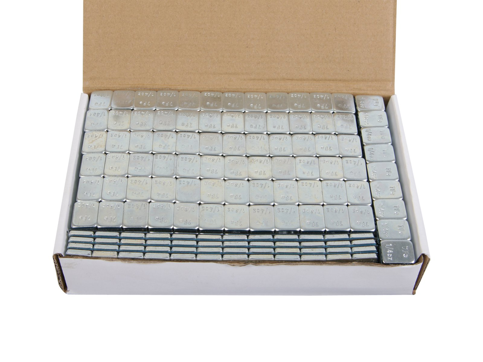 (4) Boxes - 1/4 ounce Wheel Weights Zinc Plated (Lead Free) Strips Adhesive Sticker Backing (816oz total, 68 3-oz strips, ~51lb/pounds) Silver by Precision European Motorwerks (Image #2)