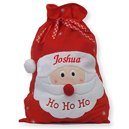 Baby Originals Ltd Large Christmas Embroidered Personalised Gift Santa Sack Home & Kitchen Seasonal Décor