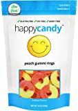 Happy Candy Peach Gummi Rings - Gluten Free, Fat Free, Dairy Free - Resealable Pouch (1 Pound)