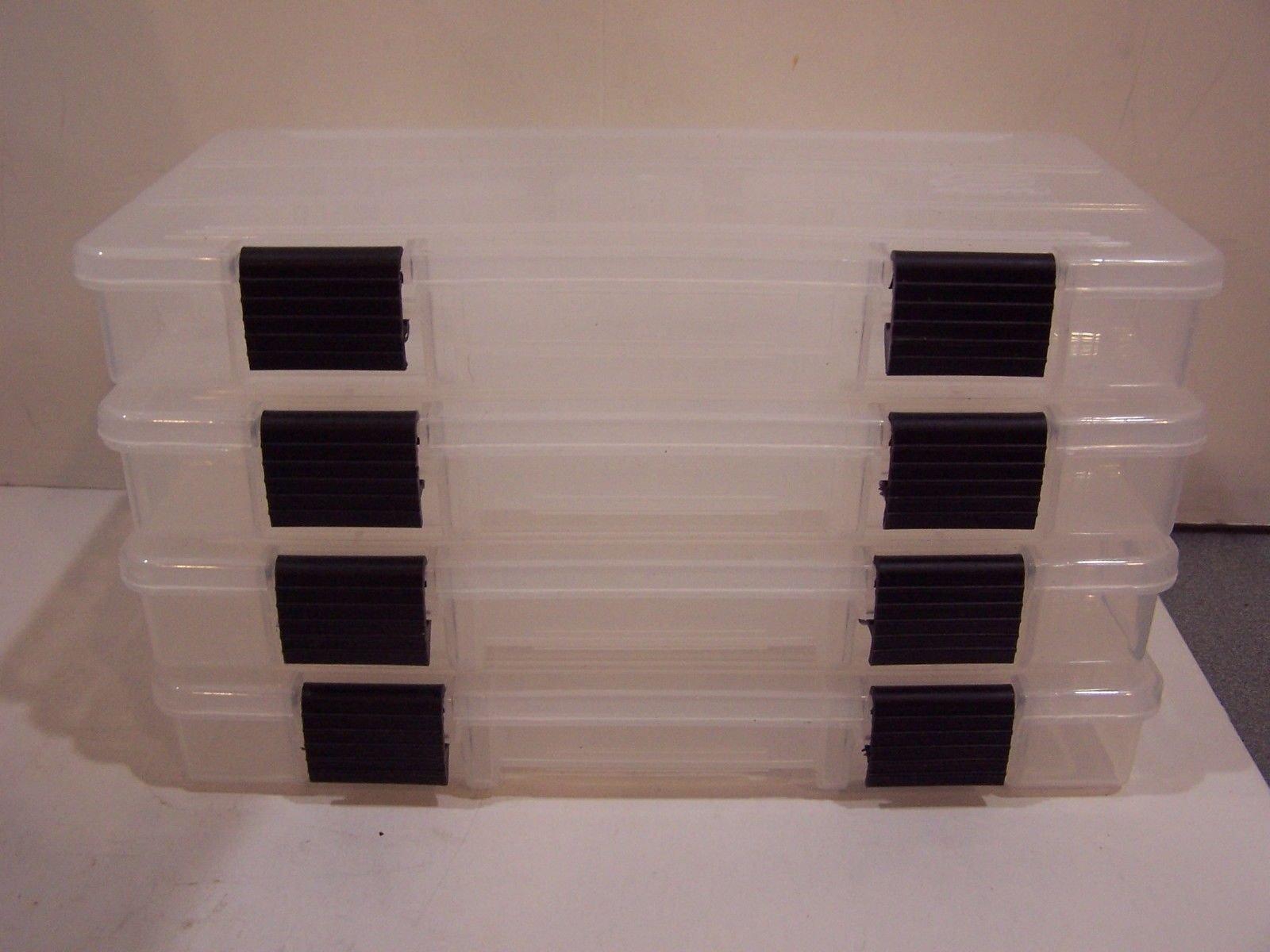 Plano Molding Company 2-3500 Prolatch Stowaway Utility Box (4-Pack) (Black, 2-3500) by Plano