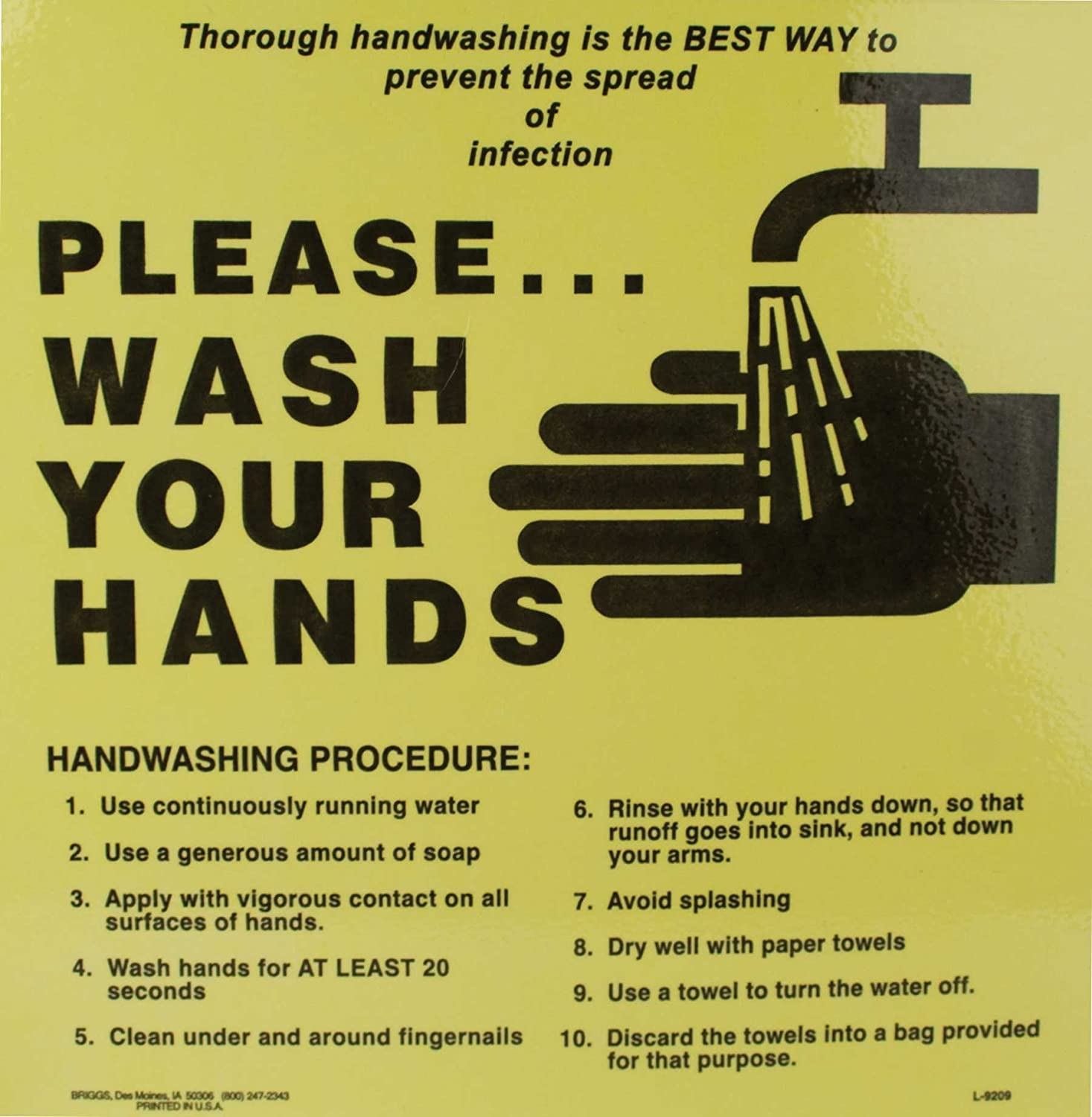 How To Wash Your Hands Sign Amazon Industrial Scientific