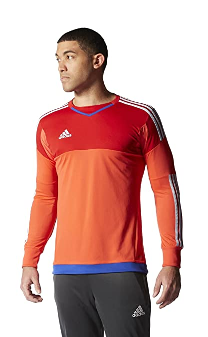 New Adidas Men s Top 15 Goalkeeper Jersey Bright Red Scarlet Clear Sky X- b0cbec3ff3aa